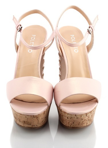 Poletto Platform Topuklu Sandalet Pembe
